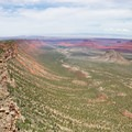 Looking along the rim from high on UPS.- Porcupine Rim