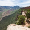 View up the rim toward the La Sals.- Porcupine Rim