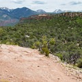 Continuing downhill and leaving the mountains behind.- Porcupine Rim