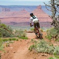 The trail gets very near the edge in a few places.- Porcupine Rim