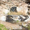 The first cascade at Cottonwood Creek Falls.- Cottonwood Creek Falls