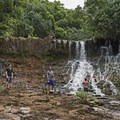 Lower Ho'opi'i Waterfall. - Ho'opi'i Falls Trail