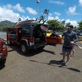 Gearing up at the Wailua River boat launch near Kapa'a Town. - Wailua River Paddle