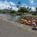 Ready to launch into the marina. - Wailua River Paddle