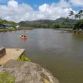 Heading out of the marina toward the river.- Wailua River Paddle