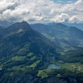 Niderbauen Chulm (left) and the lake Seeli, seen from the summit of Fronalpstock.- Fronalpstock + Klingenstock via Stoos