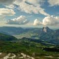 The views from the summit of Klingenstock north toward the Mythen.- Fronalpstock + Klingenstock via Stoos