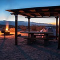 A typical tent campsite at Borrego Palm Canyon.- Borrego Palm Canyon Campground