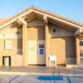 One of the many restroom and shower facilities in the campground.- Borrego Palm Canyon Campground