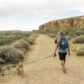 The first part of the Pueblo Alto Trail is flat and wide.- Pueblo Alto Trail