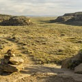 View of the South Gap from the top of the mesa.- Pueblo Alto Trail