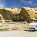 Most sites are perfect for tents or small vehicles.- Gallo Campground