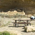 Puebloan ruins are visible from the campground.- Gallo Campground