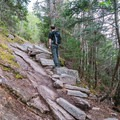 More stone steps along the Champney Falls Trail. - Mount Chocorua via Champney Brook Trail