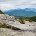 View from the open rocks on the way to the summit. - Mount Chocorua via Champney Brook Trail