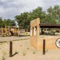 The campground has a small playground.- Coronado Campground