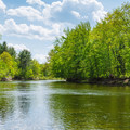 Looking down the scenic Saco River. - Saco River: North Conway to Conway