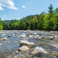 Swift River near the campground.- Covered Bridge Campground