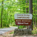 Campground entrance.- Covered Bridge Campground