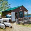 Umbagog Lake State Park offers boat rentals and access to the water.- Umbagog Lake State Park
