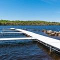 Docks by the boat ramp.- Umbagog Lake State Park