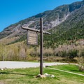 Parking to visit the Willey House historic site.- Crawford Notch State Park