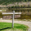 Trails in Crawford Notch lead to Mount Willey and Mount Webster.- Crawford Notch State Park