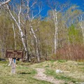 Trailhead in Crawford Notch. - Crawford Notch State Park