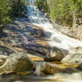 Ripley Falls in the spring. - Crawford Notch State Park