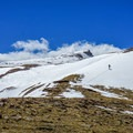 Nearing the summit.- Gunsight Peak