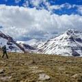 Looking toward Gunsight Pass.- Gunsight Peak