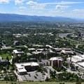 University of Montana and the Clark Fork River in the distance.- Missoula's M Trail