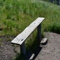 A bench along the way.- Missoula's M Trail