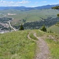 Looking down toward Missoula.- Mount Sentinel