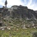 The distinctive granite forms of Domeland Wilderness.- Domeland Wilderness via Pacific Crest Trail