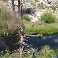 Crossing Trout Creek.- Domeland Wilderness via Pacific Crest Trail