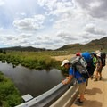 South Fork of the Kern River at the trailhead.- Domeland Wilderness via Pacific Crest Trail
