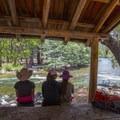 Shelter on the banks of the Kern.- Jordan Hot Springs via Blackrock Trailhead