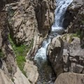 Ninemile Creek Falls.- Jordan Hot Springs via Blackrock Trailhead