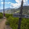 The junction to Cold Meadow.- Jordan Hot Springs via Blackrock Trailhead