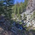 Views of Ninemile Creek.- Jordan Hot Springs via Blackrock Trailhead