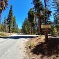 Trailhead entrance.- Jordan Hot Springs via Blackrock Trailhead