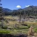 Redrock Creek.- Jordan Hot Springs via Blackrock Trailhead