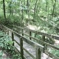 The bridge before the trail begins to ascend to the river bluff.- River View Trail