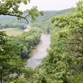 View of Taylor Bend of the Buffalo River.- River View Trail