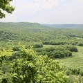 View from the overlook.- River View Trail