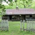 The Collier homestead along the trail.- River View Trail