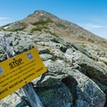 Looking back at Mount Monroe from Lakes of the Clouds.- Lakes of the Clouds Hut + Mount Washington