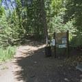 Trailhead for Terraces and Bowman trails. - Bowman Fork Trail