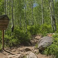 Entering the Lone Peak Wilderness.- Silver Lake Trail